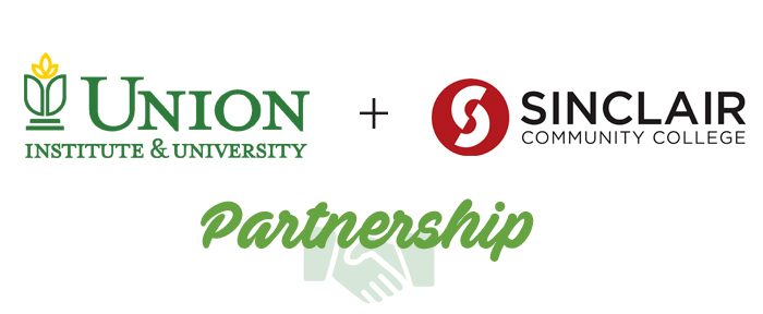 union institute and university logo and sinclair community college logo