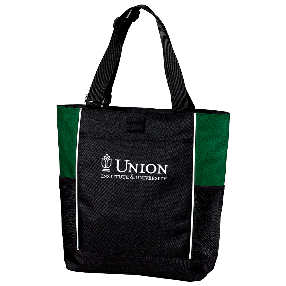 Photo of black Union branded tote bag