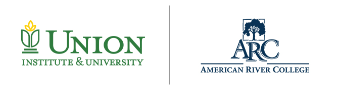 Union Institute logo and American River college logo